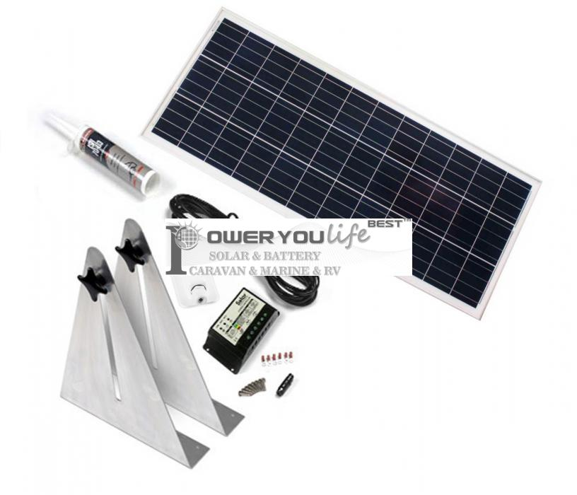 100W poly solar Narrow Boat Kit