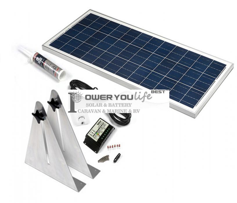 80W poly solar Narrow Boat Kit