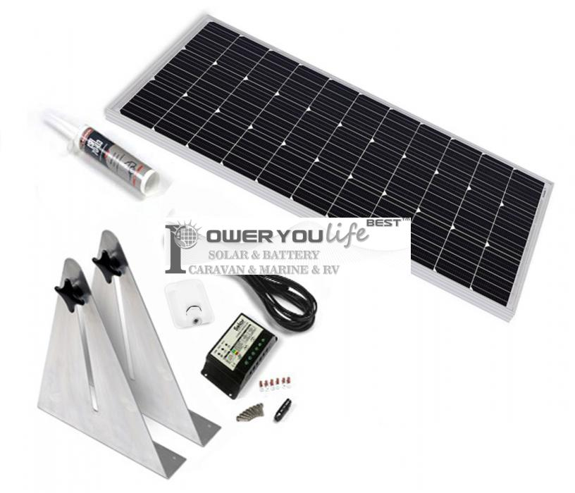 100W mono solar Narrow Boat Kit