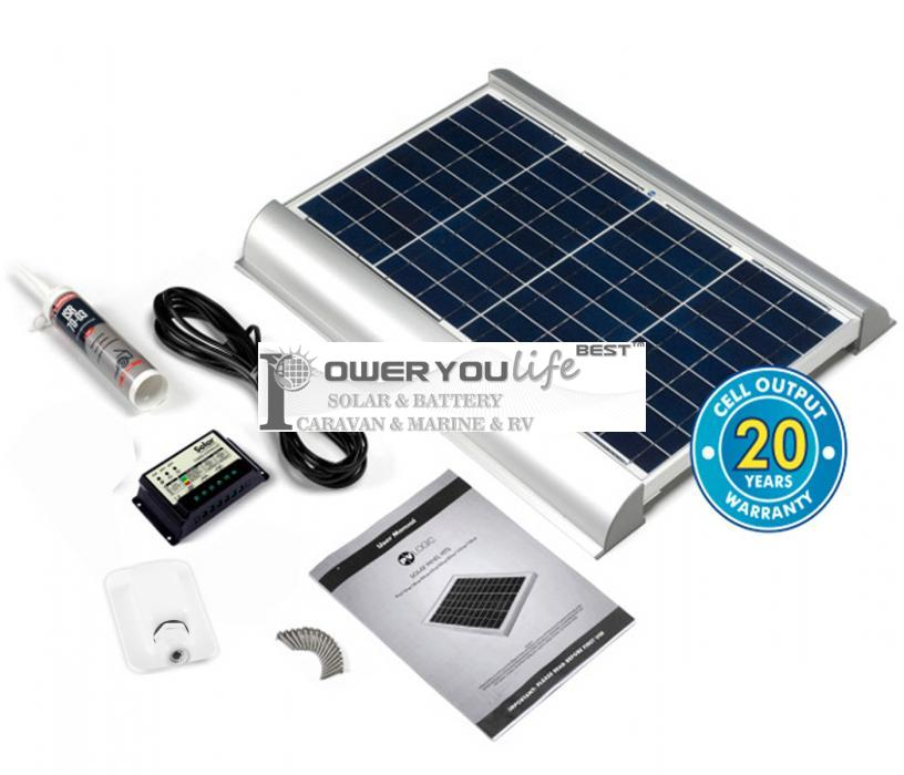30 Watt poly Solar Rooftop Kit with Premium fitting
