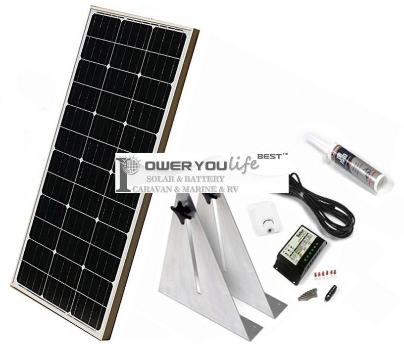80W mono solar Narrow Boat Kit
