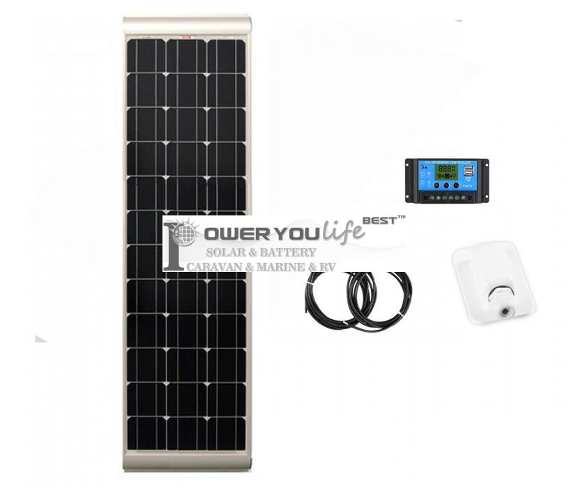 100 Watt SLIM Mono Solar Rooftop Kit with Premium fitting