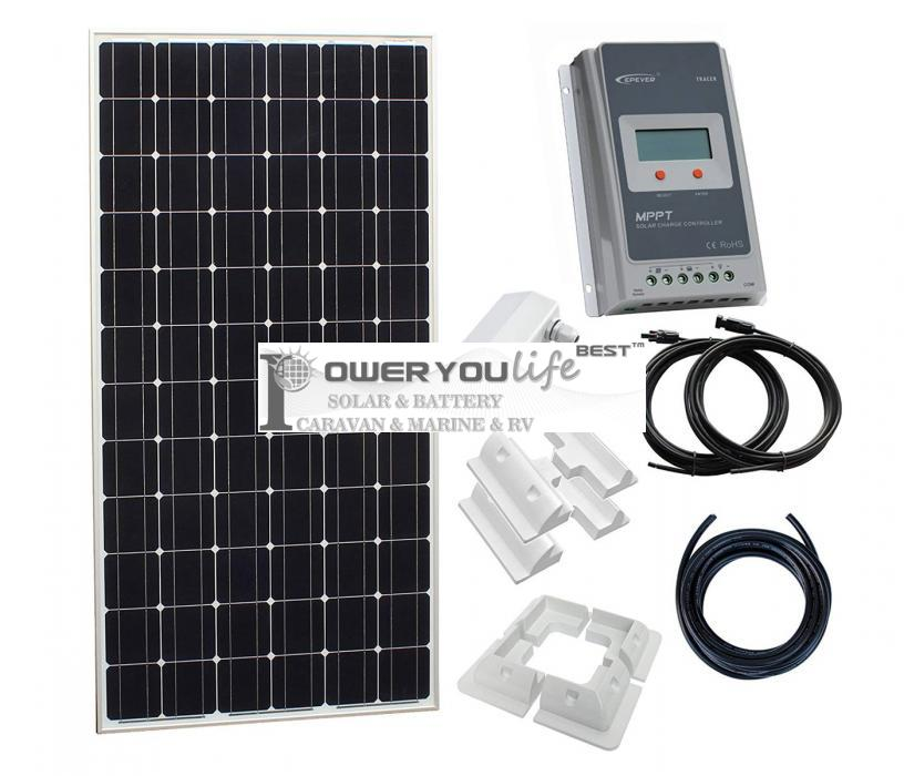 200W solar charging kit for 12V/24V battery in a motorhome, caravan, campervan, boat or for any off-grid