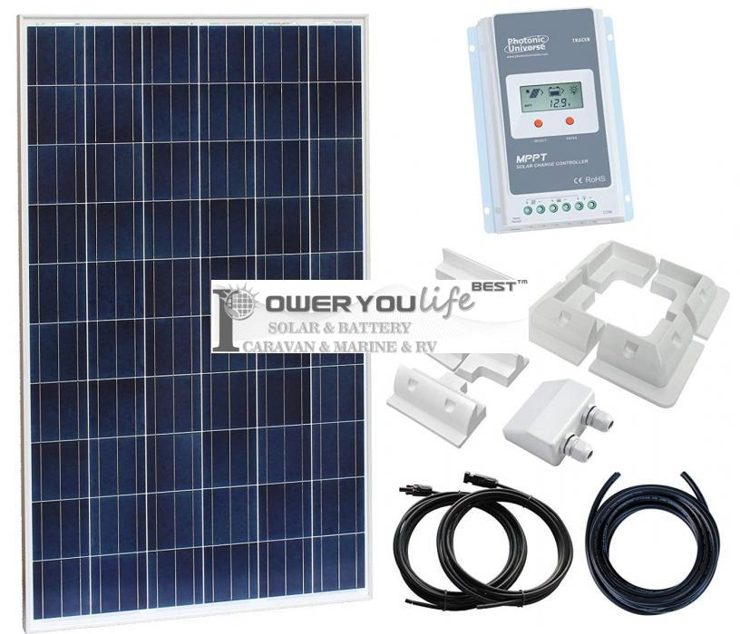 260W solar panel kit for charging a 12V24V battery in a motorhome, caravan, campervan, boat
