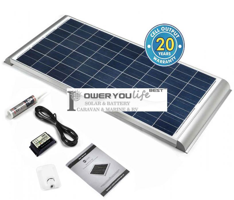 130 Watt Poly Solar Rooftop Kit with Premium fitting