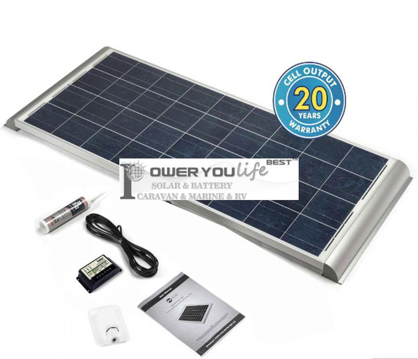 150 Watt Poly Solar Rooftop Kit with Premium fitting