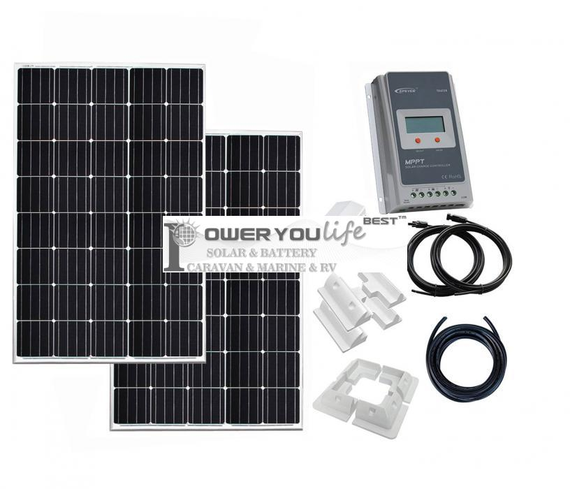 400W solar panel kit for charging a 12V24V battery in a motorhome, caravan, campervan, boat